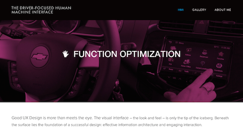 The DriverFocused Human Machine Interface