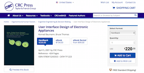 User Interface Design of Electronic Applicances