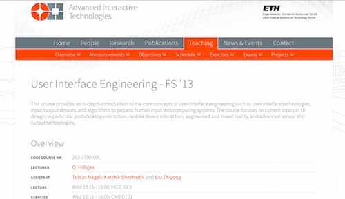 User Interface Engineering