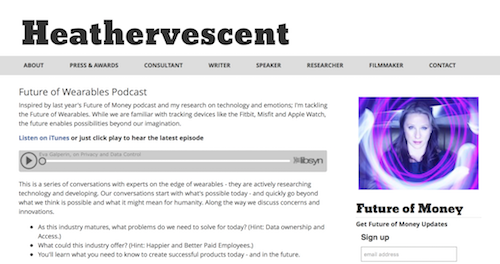 Heathervescent Future of Wearables Podcast