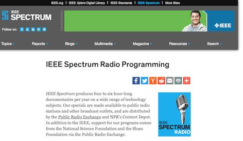 IEEE Spectrum Radio Programming