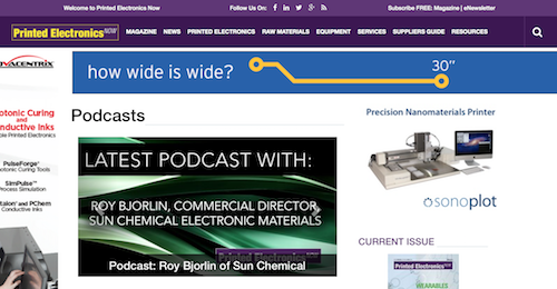 Printed Electronics Now Podcast