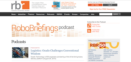 Robotics Business Review Podcasts