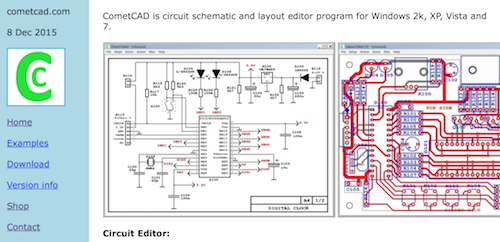 cometcad is a schematic capture and pcb layout editor tool that is designed  for electronics engineers using windows  the pcb layout editor enables  users to