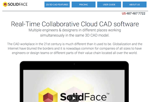 SolidFace Collaborative Cloud 3D CAD Software
