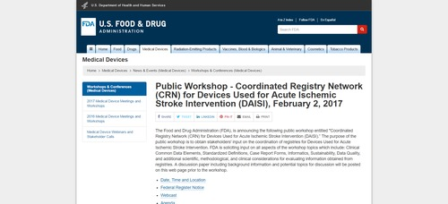 FDA Medical Device Meetings and Workshops