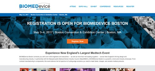 BIOMEDevice 2017 at Massachusetts Medtech Week