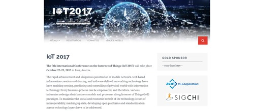 7th International Conference on Internet of Things 2017